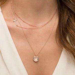 Multilayer Choker Cross Circle Pendant Necklace